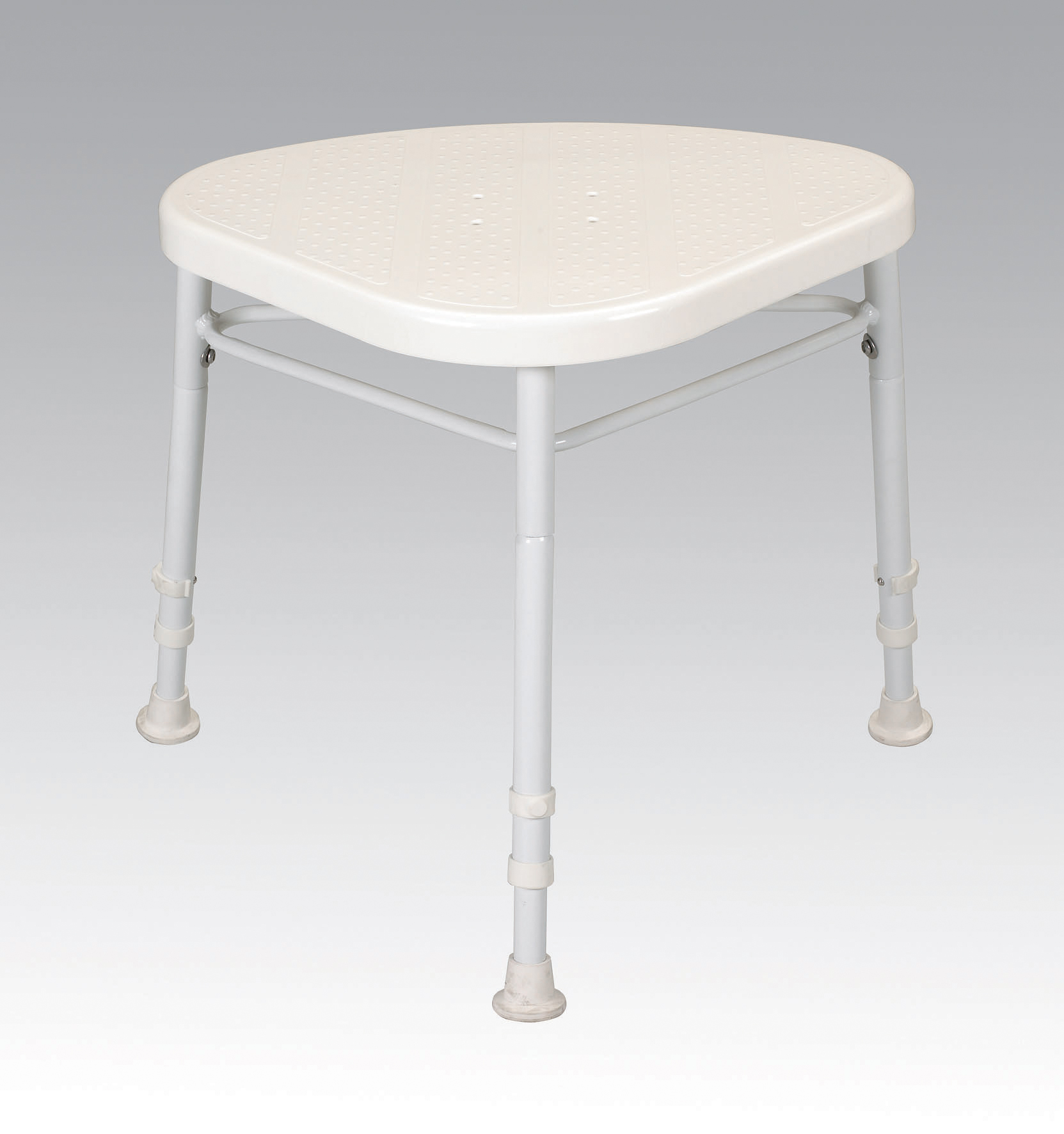 Picture of: White Line Corner Shower Stool Murrays Ie